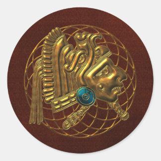 Mayan Ornament 2 Classic Round Sticker