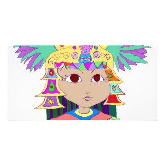 Mayan Princess Photo Card Template