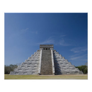 Mayan Pyramid, Morning in March Poster