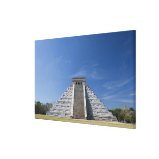 Mayan Pyramid, Morning in March Stretched Canvas Print
