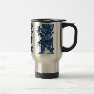 Mayan Rain God Blue Travel Mug