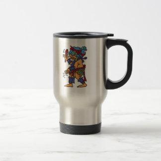 Mayan Rain God Colored Travel Mug