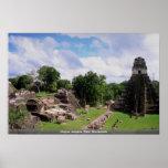 Mayan remains, Tikal, Guatemala Print