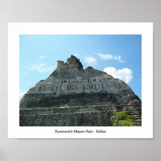 Mayan Ruin Xunatunich Poster