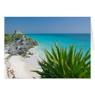 Mayan Ruins At The Beach In Tulum Card