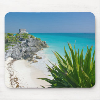 Mayan Ruins At The Beach In Tulum Mouse Mat