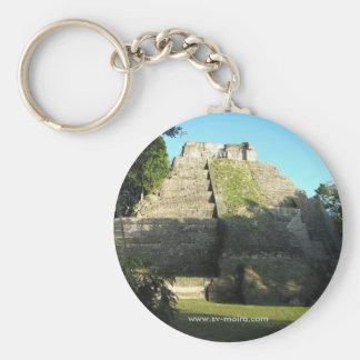Mayan Ruins at Yaxha, Guatemala Basic Round Button Key Ring