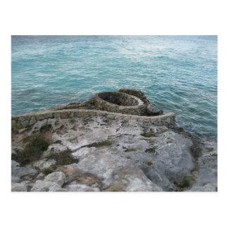 Mayan Ruins, Isla Mujeres, Mexico Postcard