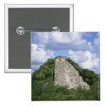 Mayan ruins of Coba, Yucatan peninsula, Mexico 15 Cm Square Badge