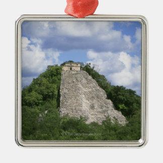 Mayan ruins of Coba, Yucatan peninsula, Mexico Silver-Colored Square Decoration