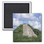 Mayan ruins of Coba, Yucatan peninsula, Mexico Square Magnet