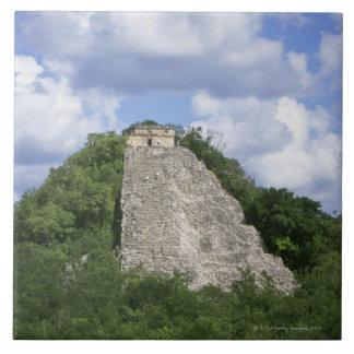 Mayan ruins of Coba, Yucatan peninsula, Mexico Tile