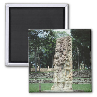 Mayan Ruins Photo Designed Square Color Magnet