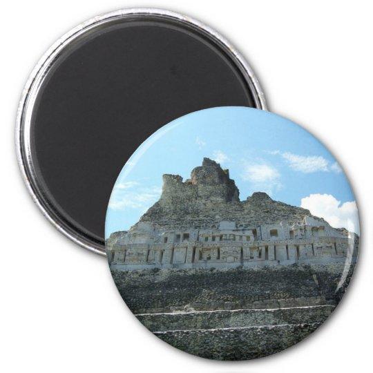 Mayan Ruins - xunantunich belise 6 Cm Round Magnet