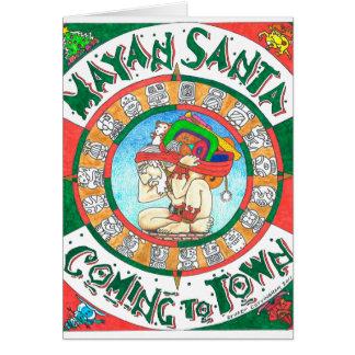 Mayan Santa greeting card