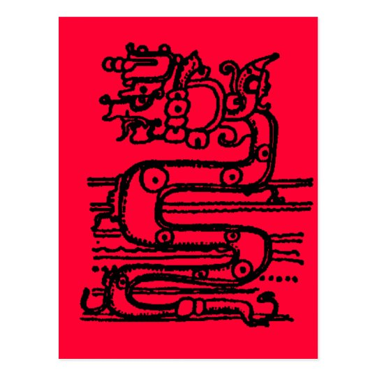 MAYAN SERPENT GOD POSTCARD