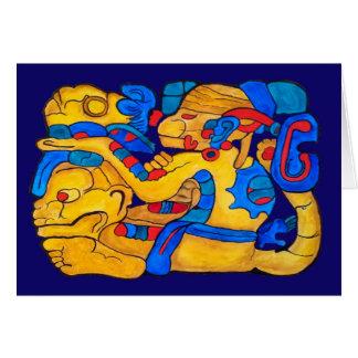 MAYAN SPIRIT HUN CHOWEN- BLUE BACKGROUND CARD