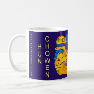 MAYAN SPIRIT HUN CHOWEN- BLUE- MAYAN RIVIERA COFFEE MUG