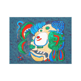 MAYAN SPIRIT KAI YUM- DARK BLUE BACKGROUND CANVAS PRINT