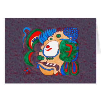 MAYAN SPIRIT KAI YUM- DARK RED BACKGROUND CARD