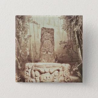 Mayan temple, Honduras 15 Cm Square Badge