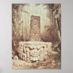 Mayan temple, Honduras Poster