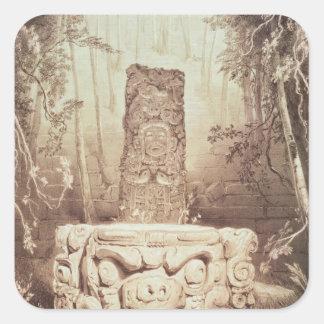 Mayan temple, Honduras Square Sticker