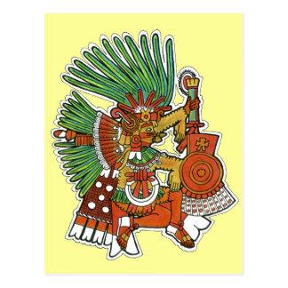 Mayan Tezcalipoca God Postcard