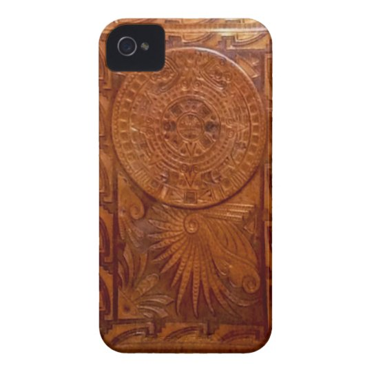 Mayan tooled leather style iphone Case-Mate iPhone 4