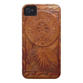 Mayan tooled leather style iphone iPhone 4 case