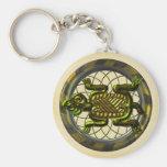 Mayan Turtle Basic Round Button Key Ring