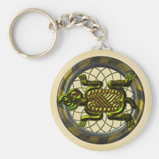 Mayan Turtle Key Ring