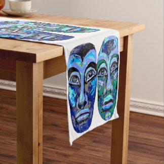 Mayan warriors - Halloween  Design Short Table Runner