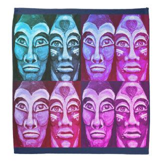 Mayan warriors - surrealism painted design bandana