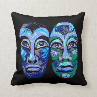 Mayan Warriors - Trendy Modern Avant-Garde- Cushion