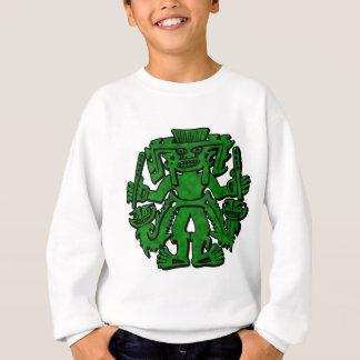 Mayan With Clubs Green Sweatshirt