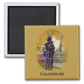 Mayan Woman in Panajachel Guatemala your words Magnet