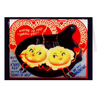 Maybe I'm Just A Small Fry Retro Valentine Greeting Card