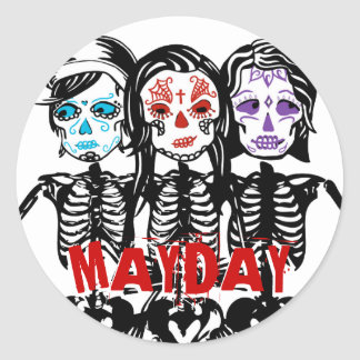 mayday : color touched round sticker