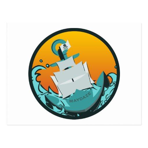 maydaze sinking ship post cards