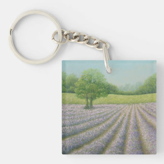 Mayfield Lavender in Bloom Surrey Acrylic Key Ring