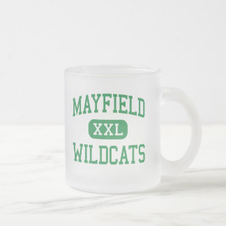 Mayfield - Wildcats - High School - Cleveland Ohio Frosted Glass Coffee Mug