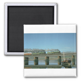 Mayflower and Flying Scotsman skirt the Cumbrian c Square Magnet
