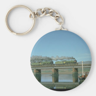 Mayflower and Flying Scotsman_Steam Trains Basic Round Button Key Ring