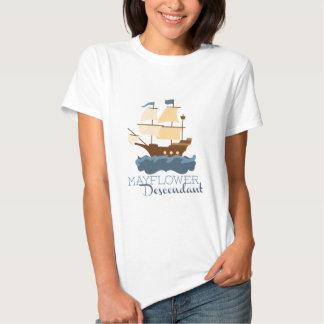 Mayflower Descendant Tee Shirts