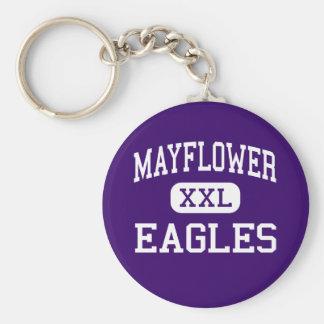 Mayflower - Eagles - High - Mayflower Arkansas Basic Round Button Key Ring