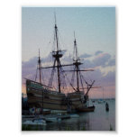 Mayflower II at Sunset Posters