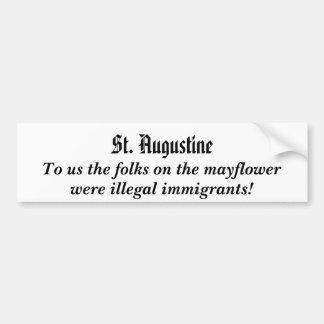 mayflower.illegalimmigrants bumper sticker.. bumper sticker
