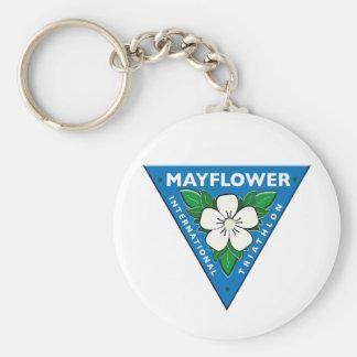 Mayflower International Triathlon Key Chain