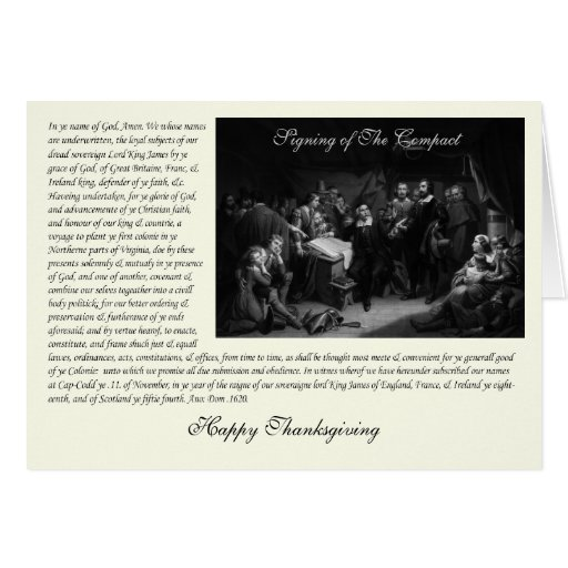 Mayflower Pilgrim Fathers - Signing of the Compact Cards